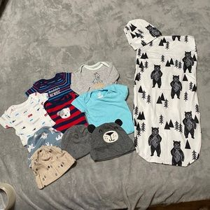 Premie/ new born onzies baby sack bundle